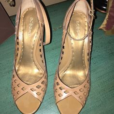Tan BCBG Girls 3 inch heels Size 9 Super cute and sexy, didn't wear more than 10 times. Good condition, clean. BCBGirls Shoes Heels