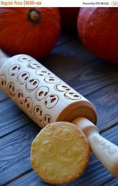 ON SALE Jack Skellington Rolling Pin Nightmare Before Christmas Custom Engraved Cookies Stamp Winter gift Sugar Cookies Gift for Her | 57 | #etsyfind #affiliatelink #ad #rollingpin #jackskelington #halloweencookies
