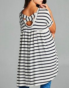 **** Stitch Fix Summer 2017 Inspo!! Love this adorable navy and white babydoll tunic. I adore this subtle cross back detail for a little added flare. Get your picks of on trend clothing, shoes and accessories just like this from Stitch Fix today. Simply click the picture to get started, fill out the style profile and mention styles like this! #sponsored StitchFix