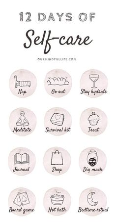 12 Days Of Self-care - Cultivate self-love during Christmas - Our Mindful Life // self care routine/self care to-do list/self care products/ self care tips/ winter self care/ holiday self care/ Christmas self care/ holiday depression/ skin self care/ Vie Motivation, Self Care Activities, Self Improvement Tips, Care Quotes, Self Care Routine, Wellness Tips, Best Self, Self Help, 30 Day Challenge