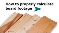 How Do You Properly Calculate Board Footage for a Project. Rockler.com woodworking tools