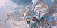 ArtStation - Guild Wars 2 Path of Fire, Ahmed Aldoori Architecture Collage, Futuristic Architecture, Organic Architecture, Landscape Concept, Fantasy Landscape, Landscape Design, Character Concept, Character Art, Character Design
