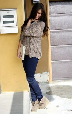 Oversized Sweaters. And shoes. And clutch.