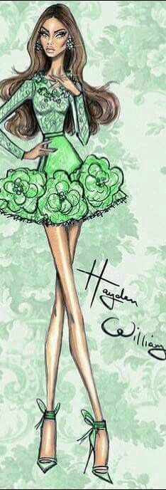 Green - Fashion Illustration by Hayden Williams | House of Beccaria~