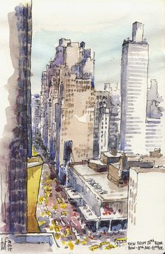 rene fijten sketches: NYC: 8th ave 44th street