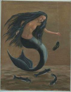 Mermaid art by Vivian Ogea Allen
