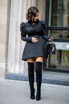 Paris - Best of Fashion Week - Paris Couture Week Miroslava Duma Couture Week, Couture Mode, Couture Fashion, Paris Couture, Couture Style, Mode Outfits, Fashion Outfits, Fashion Trends, Fashion Boots
