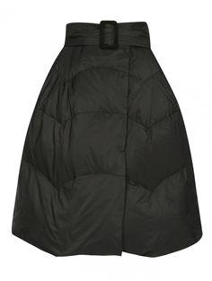 Пуховая юбка-трапеция - Обтравка