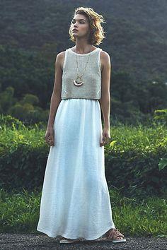 Layered Sandstone Maxi Dress