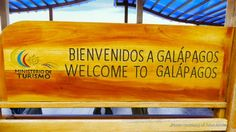 Galapagos Welcome Sign