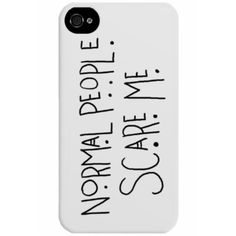 American Horror Story, Les gens normaux Me font peur Phone Case ($27) ❤ liked on Polyvore featuring accessories, tech accessories, phone cases, phones, electronics and cases