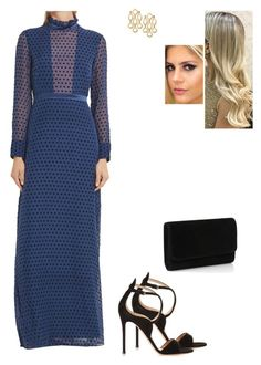 """""""Untitled #8542"""" by gracebeckett on Polyvore featuring Gianvito Rossi and Saloni"""
