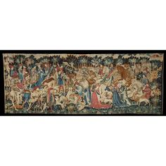 Tapestry - The Devonshire Hunting Tapestries; Boar and Bear Hunt