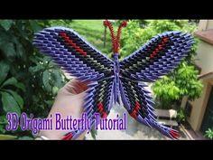 HOW TO MAKE 3D ORIGAMI BUTTERFLY | DIY PAPER BUTTERFLY TUTORIAL - YouTube