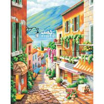 Bedroom wall art Paintworks® Village Steps Paint-by-Number Kit Large Painting, Artist Painting, Oil Painting On Canvas, Diy Painting, Water Based Acrylic Paint, Paint By Number Kits, Easy Paintings, Texture Art, Art