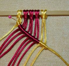 Basic macrame knots.  So, here are 12 of the basic knots. Enjoy........
