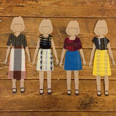 we made ace & jig paper dolls with mix n match outfits from our fall fabrics Ace And Jig, Paper Dolls, Disney Characters, Fictional Characters, Fabrics, Textiles, Disney Princess, Fall, Instagram Posts