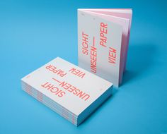 covers ofSight Unseen by Studio Lin