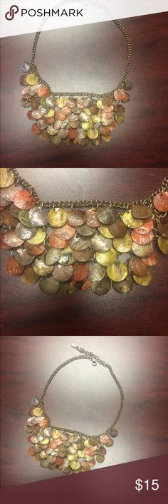 Earth Tone Beaded Statement Necklace Earth Tone Beaded Statement Necklace. Gorgeous one of a kind Necklace in fall colors. Jewelry Necklaces