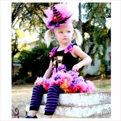 couture witch Halloween pettiskirt costume