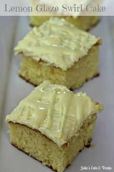 Lemon Glaze Swirl Cake ~ Lemon cake topped with a lemon glaze and lemon frosting! Lemon Recipes, Sweet Recipes, Cake Recipes, Dessert Recipes, Just Desserts, Delicious Desserts, Swirl Cake, Lemon Frosting, Pineapple Upside Down Cake