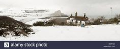 The snow covered chalk cliffs of the Seven Sisters viewed from across Stock Photo, Royalty Free Image: 33060625 - Alamy