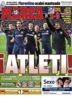 Atlético de Madrid - Barcelona (Cuartos de final de la Champions) 13/04/2016. Tras perder 2-1 en la ida, el Atlético vence 2-0 al Barcelona en el Calderón. Goles de Torres y Griezmann.
