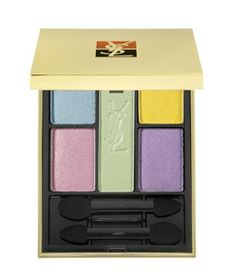 Yves Saint Laurent's 5 Colour Harmony for Eyes adds a bright touch to your look. Love the pastels!