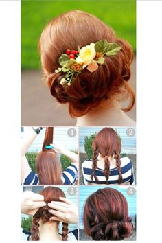Easy up do , prom hair