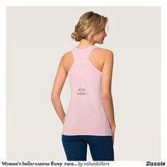 Women's bella+canvas flowy  racer back tank top.