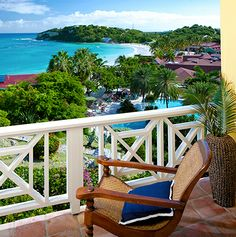 View from ocean view rooms at #grandpineappleantigua