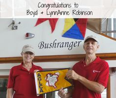 """Congratulations to our newest Gold Loopers, Boyd and LynnAnne Robinson! They completed the trip of a lifetime aboard their 38' Marine Trader, """"Bushranger,"""" on August 14, 2016."""