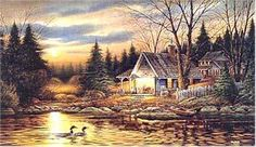 Terry Redlin - Quiet of the Evening - Complete colection of art, limited editions, prints, posters and custom framing on sale now at Prints. Wildlife Paintings, Wildlife Art, Landscape Paintings, Landscape Wallpaper, Acrylic Paintings, Western Photography, Art Photography, Cabin Tattoo, Terry Redlin