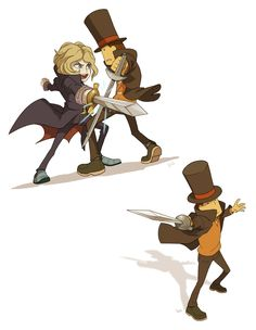Anton vs Professor Layton by wredwrat on DeviantArt