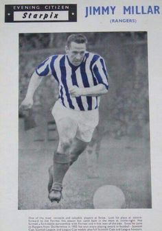 Jimmy Miller old Evening Citizen photo. Rangers Football, Rangers Fc, Football Pictures, Glasgow, Science Nature, Baseball Cards, Sports, Citizen, Scotland