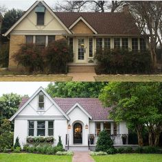 Trendy house exterior makeover before and after fixer upper 61 Ideas Home Exterior Makeover, Exterior Remodel, Exterior Paint Colors For House, Paint Colors For Home, Exterior Colors, Paint Colours, Bright Colours, Casas Tudor, Casa Estilo Tudor
