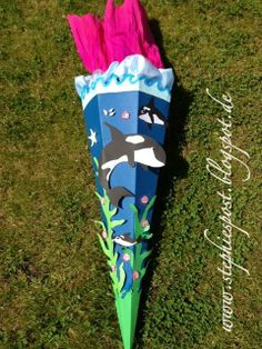 Schultüte Delfin - zauberhaft für Mädchen  http://einfachstephie.de/2013/06/06/schultuete-delfin-zauberhaft-fuer-maedchen/