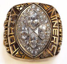 San Francisco 49ers, Super Bowl XXIV World Championship Ring. Winning back-to-back Super Bowls.
