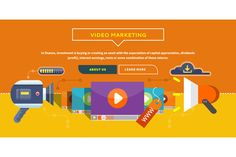 Video Marketing. Concept for Banner by robuart on Creative Market