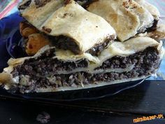 Vynikajúca makovo jablková štrúdla Cheesesteak, Sweet Recipes, Nom Nom, Cabbage, Good Food, Meat, Chicken, Cake, Ethnic Recipes