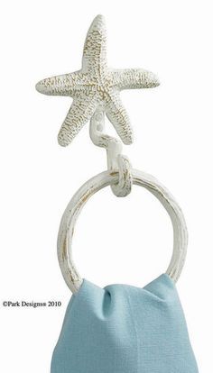Starfish Ring Hook :: Bath Accessories :: Bedding & Bath ::
