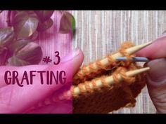 """Unir tejidos: costura """"vertical"""" #3 (grafting) (para todos los puntos a dos agujas) - YouTube"""