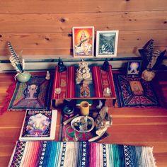 """Altar at """"The Cedar House Retreat"""" http://meredithrom.com"""
