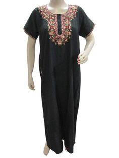 Womens Evening Wear Long Dress Black Embroidered Caftan Resort Wear Kaftan M Mogul Interior,http://www.amazon.com/dp/B00E1AL9UA/ref=cm_sw_r_pi_dp_tf.6rb1YRBCRGR84