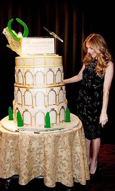 Caesars Palace marked Celine's 10th anniversary in 2013 with a larger-than-life cake. <br>Photo: © Getty Images