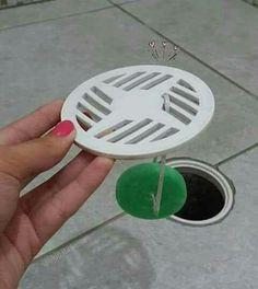 Dica de casa pastilha aromatizadoras de vaso sanitário no ralo do banheiro