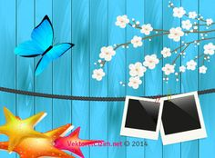 Vektörel Çizim | Nevruz Bayramı, Polaroid, Bahar, Çiçek