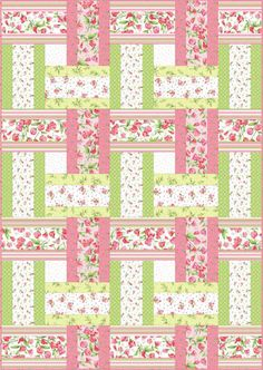 13 Strip Quilt Patterns You Can Easily Master 2019 Sweet Pea Sweet Weave Free Quilt Pattern The post 13 Strip Quilt Patterns You Can Easily Master 2019 appeared first on Quilt Decor. Lap Quilts, Jellyroll Quilts, Strip Quilts, Patchwork Quilting, Quilt Blocks, Amish Quilts, Strip Quilt Patterns, Jelly Roll Quilt Patterns, Quilting Patterns