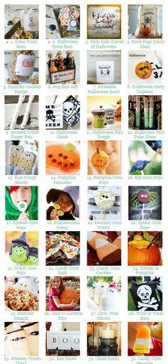 Lots of fun #Halloween crafts, recipes and decor ideas. | theidearoom.net