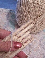Weaving Sticks  Measure and cut the warp thread to twice the length of whatever project you would like to  make and add 8 inches to give you 4 inches on each end to tie together at the end of the project.